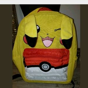 Pikachu Back Pack Rare School 3D Winking